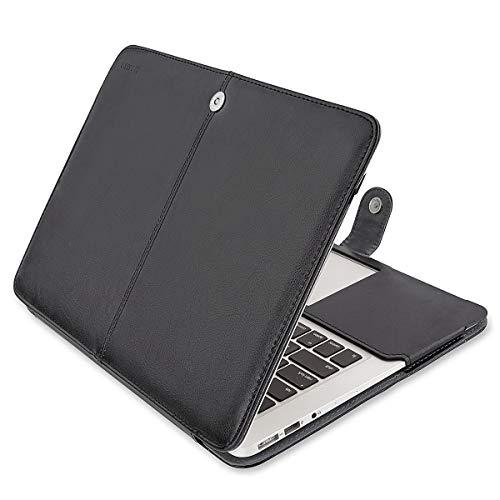 ibel MacBook Air 13 Zoll, Premium Qualität PU Leder Schlanke Schutzhülle Tasche Cover Kompatibel MacBook Air 13 Zoll (A1369 / A1466), Schwarz ()