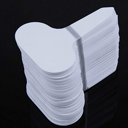 Youkara etichette etichette fai da te in bianco con fori etichette di carta targhette per regali cartellini per matrimonio cuore cartellini matrimonio etichette vuote 10 * 5cm 100pcs