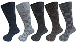 RC. ROYAL CLASS Self Design Woolen socks for Men in assorted colors (pack of 5) winter wear socks