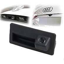 MAYA HD Cámara Trasera Marcha Atrás 480TVL 170°PAL Impermeable para Coche Auto DC12V para Audi A4 A5 S5 Q5 para VW Passat Tiguan Passat Golf Touran, Sharan Jetta Touareg