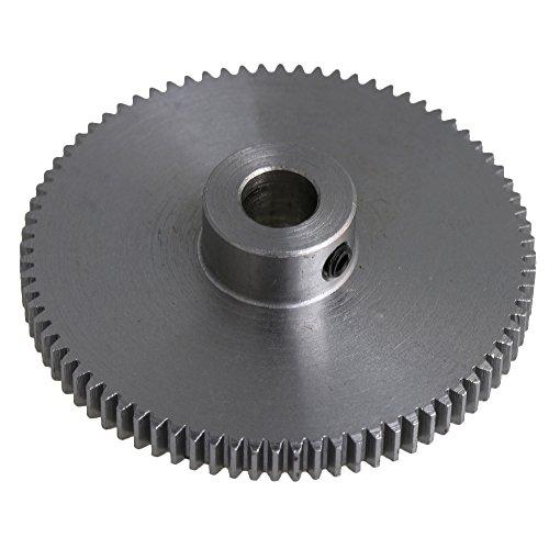 CNBTR Modul 0,5 80T Metall Stahl Getriebe 6 mm Schaftloch Motor Spur Ritzel Zahnrad Zahnrad für Projekte mit geringer Festigkeit -
