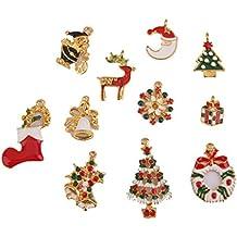 pcs colgante esmalte adorno decoracin para navidad fiesta joyera