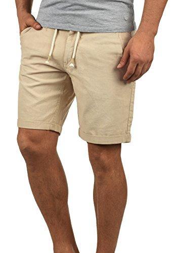 Blend Lias Herren Leinenshorts Kurze Leinenhose Bermuda Regular Fit, Größe:XL, Farbe:Chalk Stone (70032)