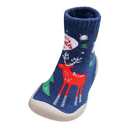 50935b6a5223f Unisexe Chaussons Chaussettes antidérapantes avec Semelle en véritable Cuir  - Binggong Chaussons Bébé Filles Bottes De