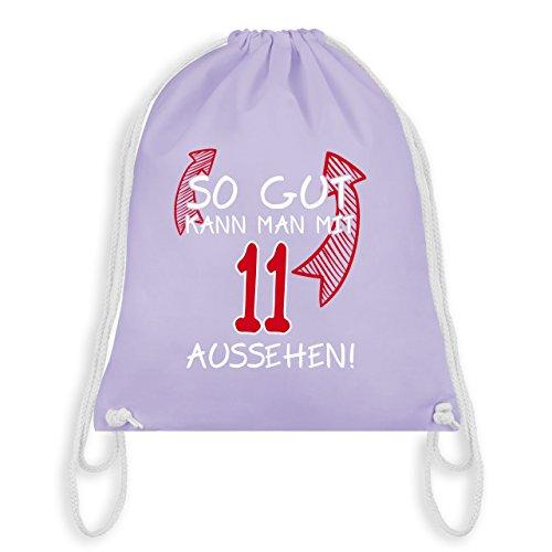 Geburtstag Kind - So gut kann man mit 11 aussehen - Unisize - Pastell Lila - WM110 - Turnbeutel & Gym Bag