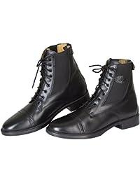 Kerbl Reitette Monaco Glattleder - Polainas/chaparreras de hípica, color negro, talla 39