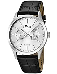 Lotus  15956/1 - Reloj de cuarzo para hombre, con correa de cuero, color negro