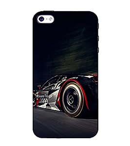 Fuson Designer Back Case Cover for Apple iPhone 4 (Racing car theme)