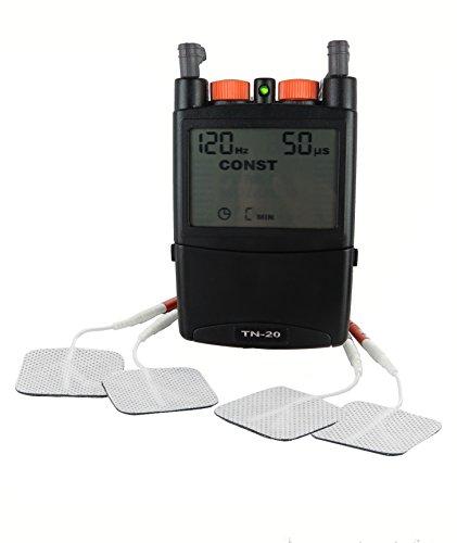 TENS Gerät mit Elektroden und 5 Programmen.Elektrotherapiegerät.Reizstromgerät für Schmerzbehandlung.Elektrostimulationsgerät.Nervenstimulator.