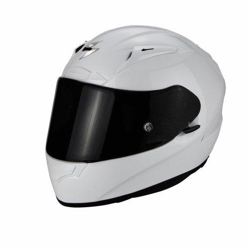 Scorpion 36-100-70-06 exo-2000 evo air casco sportivo con calotta esterna in fibre composite bianco