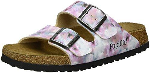 Papillio Damen Arizona Birko-Flor Softfootbed Pantoletten, Mehrfarbig (Pixel Rose Soft), 38 EU (Papillio Arizona)
