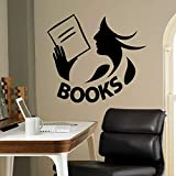yaoxingfu Books Wall Decal Vinyl Sticker Library School Classroom Home Interior Living Room Children Bedroom Removable Mural57x51cm