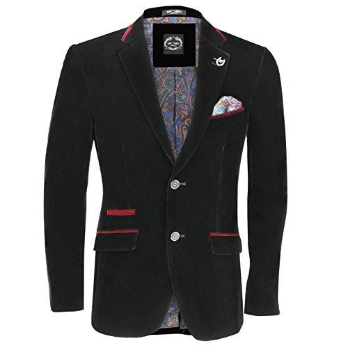 Xposed - Veste de costume - Homme * Taille Unique Noir