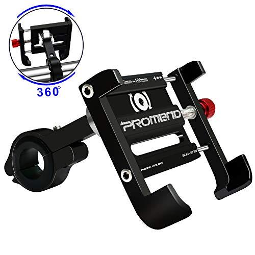 Supporto Smartphone Bici 360 Gradi Universale Porta Cellulare Moto Aluminium Supporto Telefono Bicicletta per Bicicletta Elettrica...