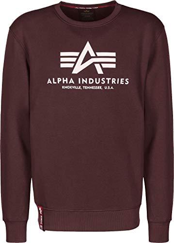 Alpha Industries Basic Sweater, Größe:3XL, Farben:Deep Maroon - Maroon Baumwolle Farbe