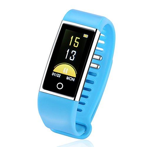Noodei M18 IP67 0.96 Intelligentes Armband Mens Armband für USB Lade Sport Schlaf Erinnerung Herzfrequenz Nachricht von Sauerstoff Blutdruckmessgerät Handy-Zubehör