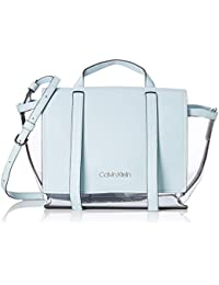 6a84c9ac329541 Calvin Klein Slide Top Handle Tr, Women's Cross-Body Bag, Blue (Pale