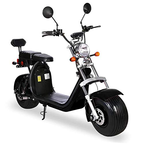 Elektroroller mit Straßenzulassung Chopper X7, E-Scooter, E-Roller, E Roller E-Scooter mit Straßenzulassung Elektro Roller Scooter, 2000 Watt, Schwarz