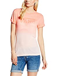 Vans Damen, Kurzarm Shirt, Fade Drop Rocker Slim Tee
