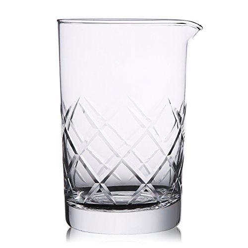 hiware 30,5cm 18/10Edelstahl Rührlöffel, Spirale Muster Bar Cocktail Shaker Löffel Mixing Glass farblos -