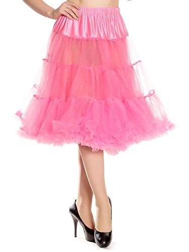 (Hell Bunny Petticoat SWING LONG hot pink L-XXL)