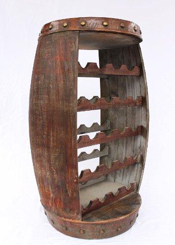 Weinregal Weinfass 0370-R Fass aus Holz - 6