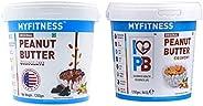 I LOVE PB Peanut Butter, Chocolate, (1250g) with I LOVE PB Peanut Butter, (1250g)