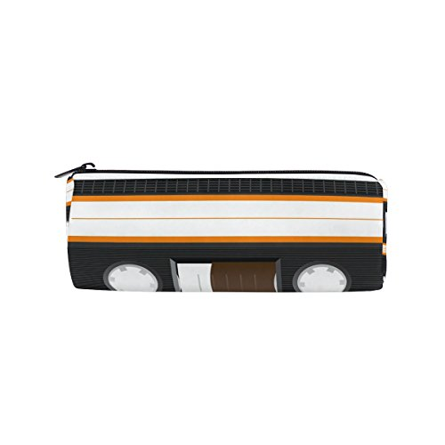 BENNIGIRY - Estuche para lápices de música, diseño de cassette con cremallera