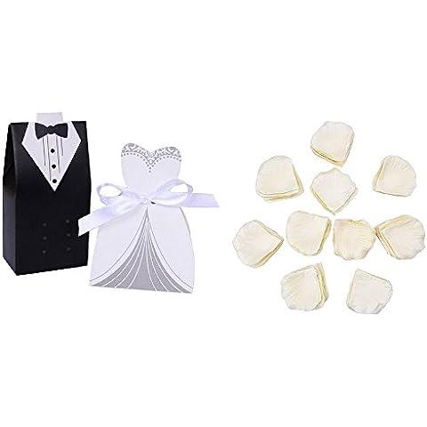 1000 petali di rosa, effetto seta, colore: bianco, ideale per matrimoni, decorazioni a forma di fiore, lilla - 1000 Di Rosa Di Seta Petali