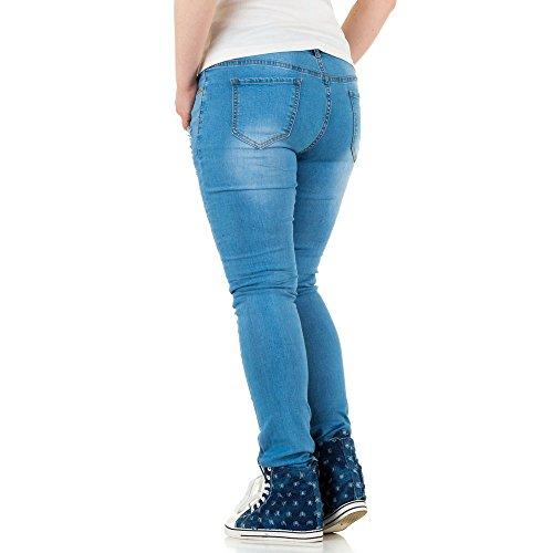 Ital-Design - Jeans - Femme Bleu - Bleu