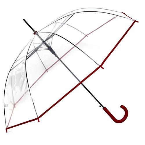 Regenschirm Transparent Durchsichtig Automatik - Rainy Days, Farbe:bordeaux