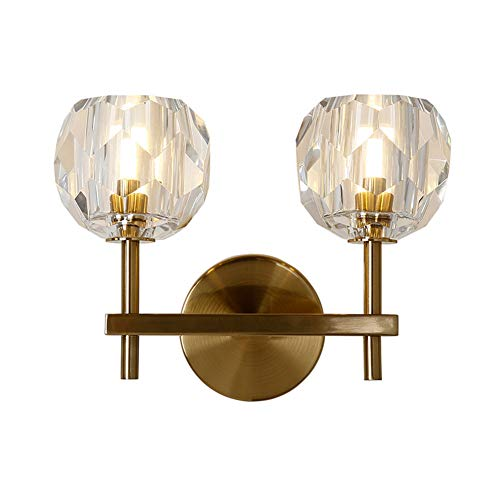 FEE-ZC Wandbeleuchtung Led Innen Warm Bronze, Plug-In Wandleuchte Wandleuchten Schlafzimmer Modern Klar Einfach Gold Lampenschirm Nacht Wohnzimmer Badezimmer, C -