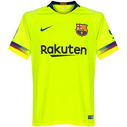 Nike Kinder Fußballtrikot FC Barcelona Stadium Away 2018/19 S Volt/(Deep Royal Blue)