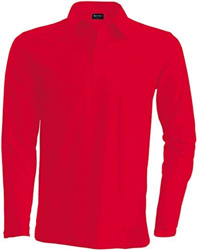 Kariban Herren Poloshirt Rot