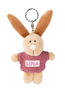 NICI 44639 Lina - Llavero con Camiseta (10 cm), diseño de Conejo, Color Beige