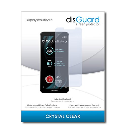 disGuard® Bildschirmschutzfolie [Crystal Clear] kompatibel mit Allview X4 Soul Infinity S [3 Stück] Kristallklar, Transparent, Unsichtbar, Extrem Kratzfest, Anti-Fingerabdruck - Schutzfolie