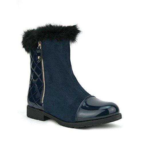 Cendriyon, Bottine LOOK'S Marine OOP'S Chaussures Femme Bleu