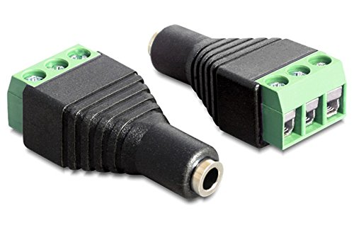 Wentronic 76746. 3-Pin 3.5mm Black, Green Cable Interface/Gender Adapter–Cable Interface/Gender Adapter (3-Pin, 3.5mm, Female/Female, Black, Green)