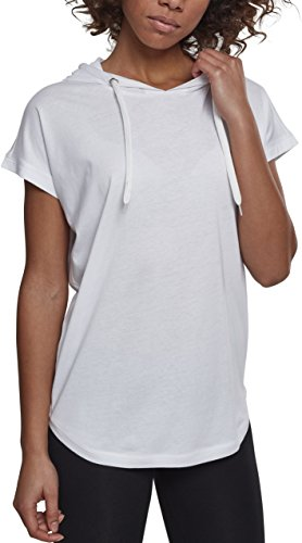 Urban Classics Damen Ladies Sleeveless Jersey Hoody T-Shirt, White, 3XL -
