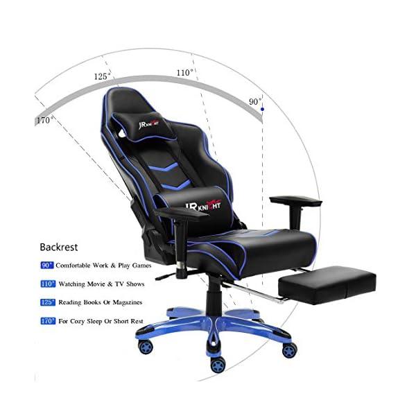 Luxe Gaming ProErgonomique Bureau À Knight Racing Domicile Lombaire TabouretGamer Avec Repose Chair D'oreiller Et Pieds Chaise De Taie Jr yNmOvn0Pw8