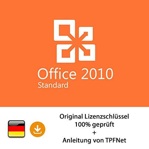 MS Office 2010 Standard 32 bit & 64 bit Vollversion Original Lizenzschlüssel per Post und E-Mail + Anleitung von TPFNet® - Versand maximal 60Min