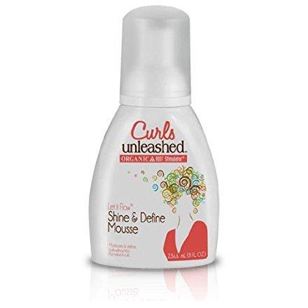Organic Root Stimulator Curls Unleashed Let It Flow Shine & Define Mousse 236 ml
