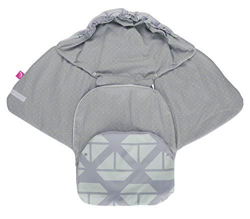 Baby Softshell Einschlagdecke für Babyschale, Autositz, Maxi-Cosi, Römer und andere Marken, ideal für Kinderwagen, Fahrradanhänger, Buggy - Schiffe mint