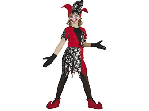 Mädchen Clown Böse Kostüm - DISONIL Kostüm bösen Clown Mädchen Größe L