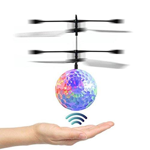Xshuai 15.5 * 11cm RC Spielzeug EpochAir RC Fliegende Kugel, RC Drone Hubschrauber Ball Eingebaute Shinning LED Beleuchtung für Kinder Jugendliche Bunte Flyings für Kinder Xmas Toy Geschenk (Mehrfarbig)