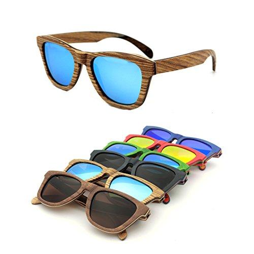 Zhuhaixmy Unisex Anti-Glare UV400 Polarisiert Brille Skateboard Holz Sonnenbrille Eyewear Outdoor Reisen Brille