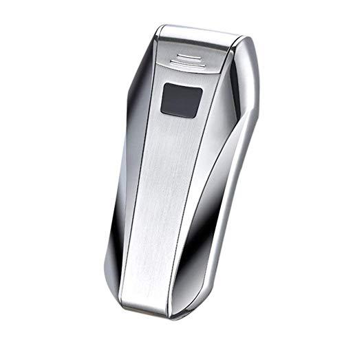 Yangers - Elektro-Feuerzeug mit Lichtbogen, USB, wiederaufladbar, elektronisches Feuerzeug mit Doppel-Dual Arc Pulse Windproof Flammenlose Kein Gas-Refill, Touch-Sensor, für Zigarren-Kerze silber