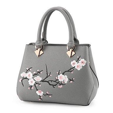 Frauen Handtasche Mode Soid Schulter Messenger Crossbody Taschen / Handtaschen Tote Dark Gray