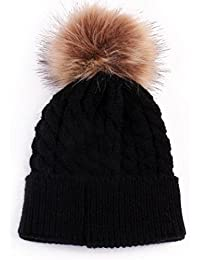 Ouneed® 3-36 mois Bebe Naissance Ponpom Bonnet
