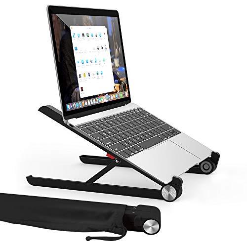 Laptop Ständer, Multi-Winkel verstellbar, Höhe einstellbar, Tate Guard Klappbar Stand, für 10 bis 17.3 Zoll Tablet/MacBook/Tab Laptop PC, 2017 Microsoft Surface Pro, Schwarz (Flexible Computer-tastatur)